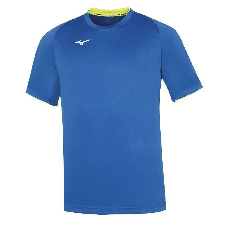 mizuno mizuno t-shirt core azzurro