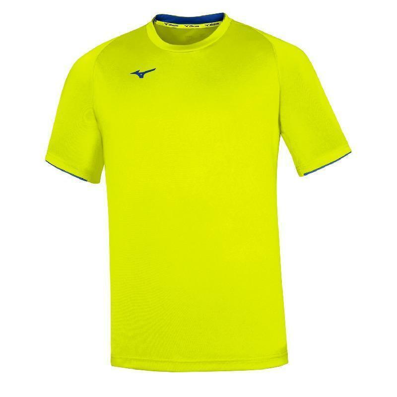 mizuno mizuno t-shirt core giallo fluo
