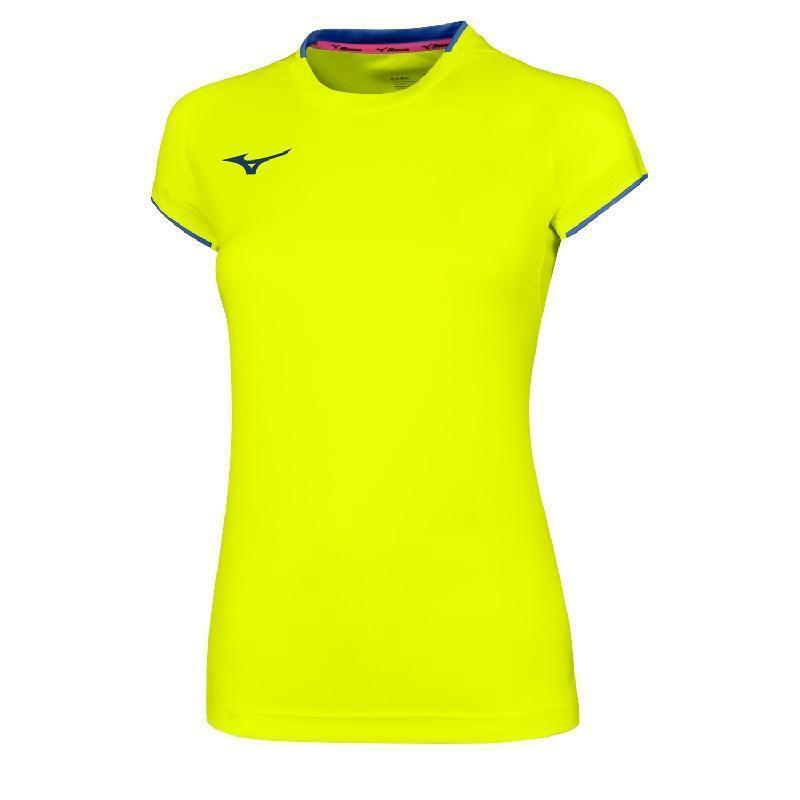 mizuno mizuno t-shirt donna core giallo fluo
