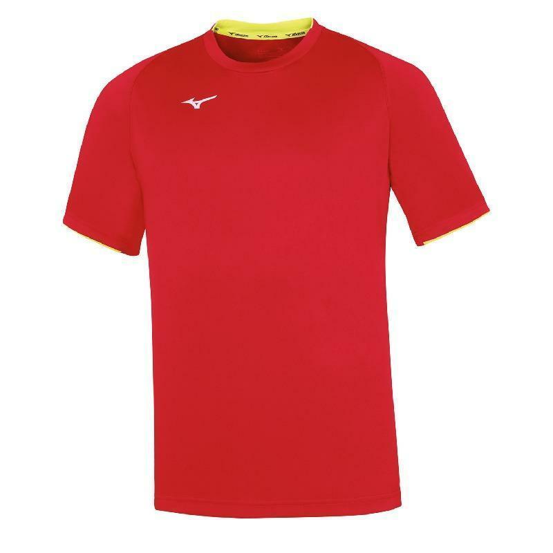mizuno mizuno t-shirt bambino core rosso