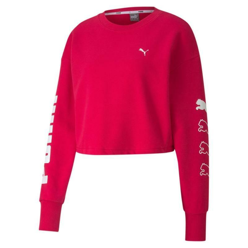 puma puma felpa donna rebel crew sweat fuxia