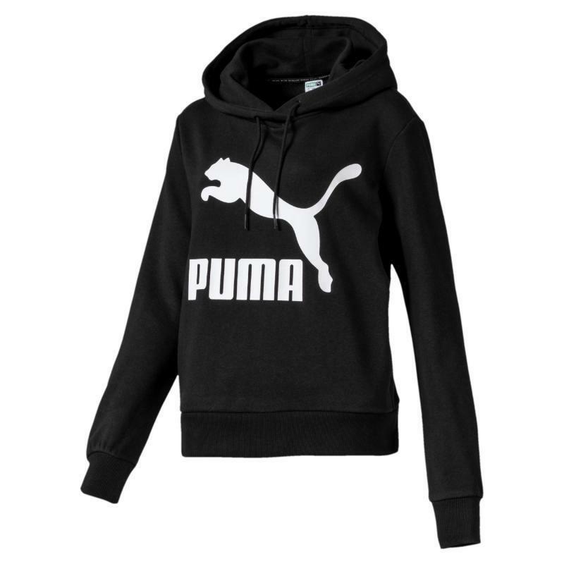puma puma felpa donna classics logo hoody