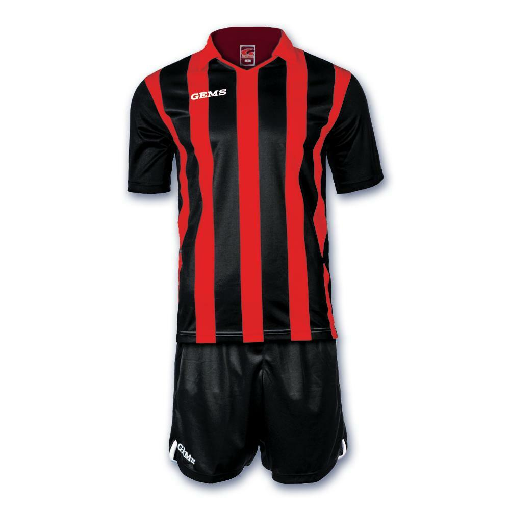 gems gems kit calcio detroit rosso/nero