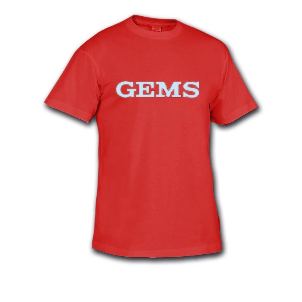 gems gems t-shirt allenamento promo rosso