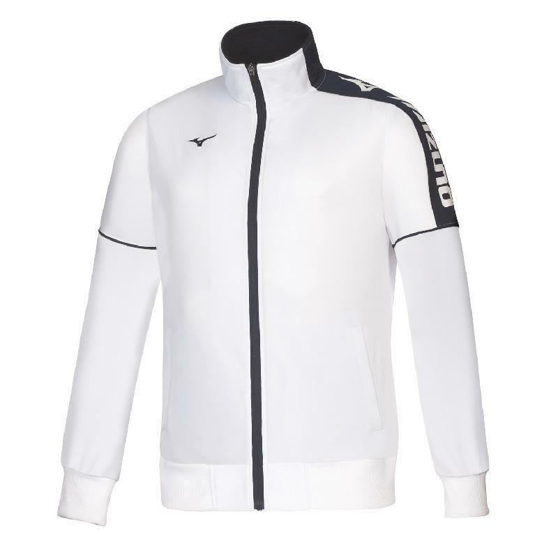 mizuno mizuno giacca tuta kyoto bianco