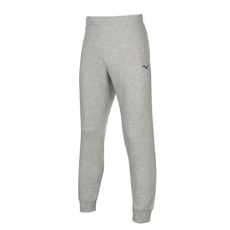 mizuno mizuno pantalone felpato sweat grigio