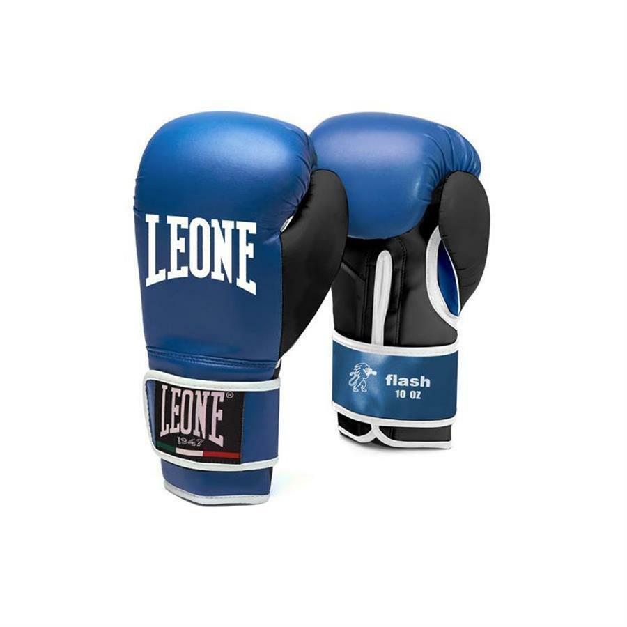 leone leone guantoni boxe flash 6oz blu