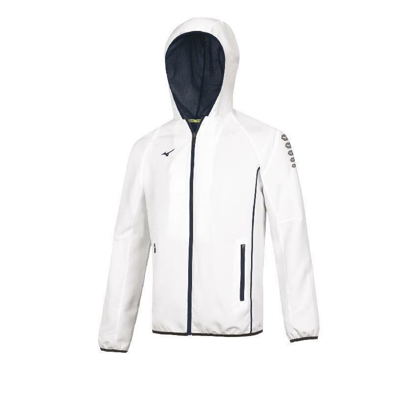 mizuno mizuno giacca tuta nagasaki bianco