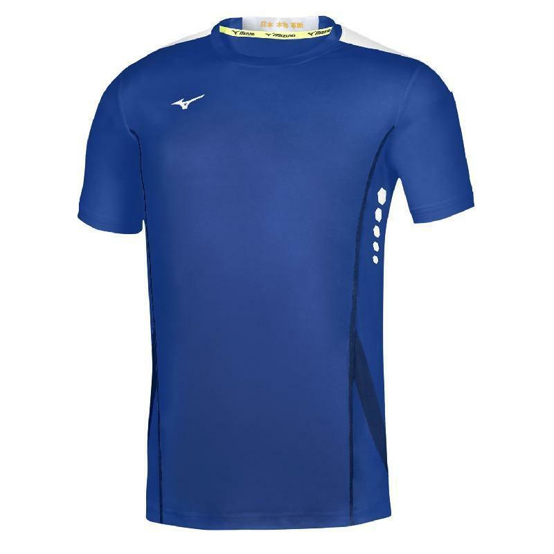mizuno mizuno maglia tennis hex rect azzurro