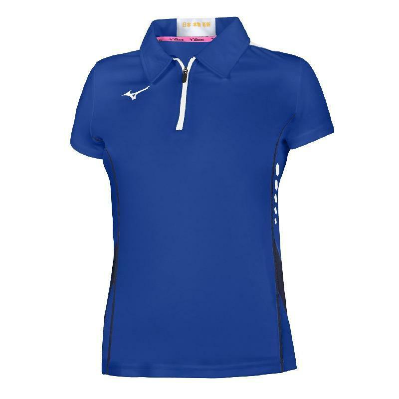 mizuno mizuno polo tennis donna hex rect azzurro