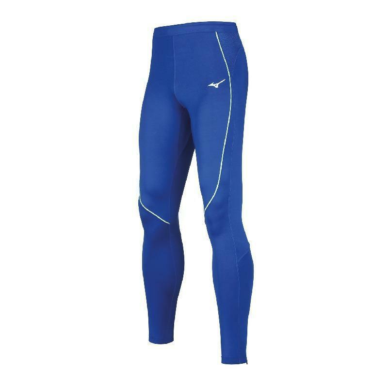 mizuno mizuno pantalone running premium  azzurro