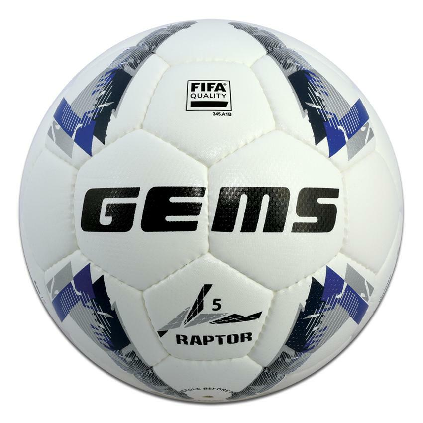 gems pallone raptor 5 bianco azzurro