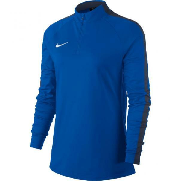 nike nike felpa allenamento donna academy 18 azzurro