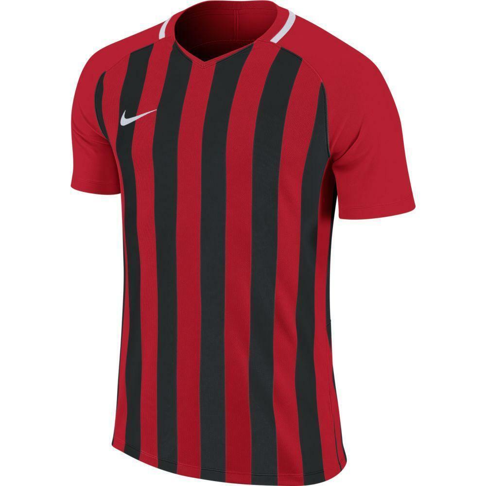 nike nike maglia bambino striped mc iii rosso/nero