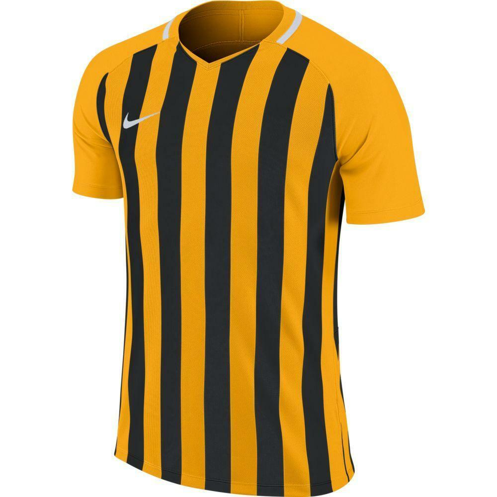 nike nike maglia bambino striped mc iii giallo/nero