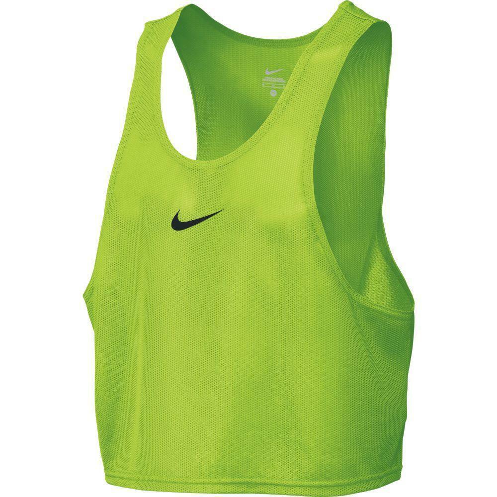 nike casacca training bib verde fluo