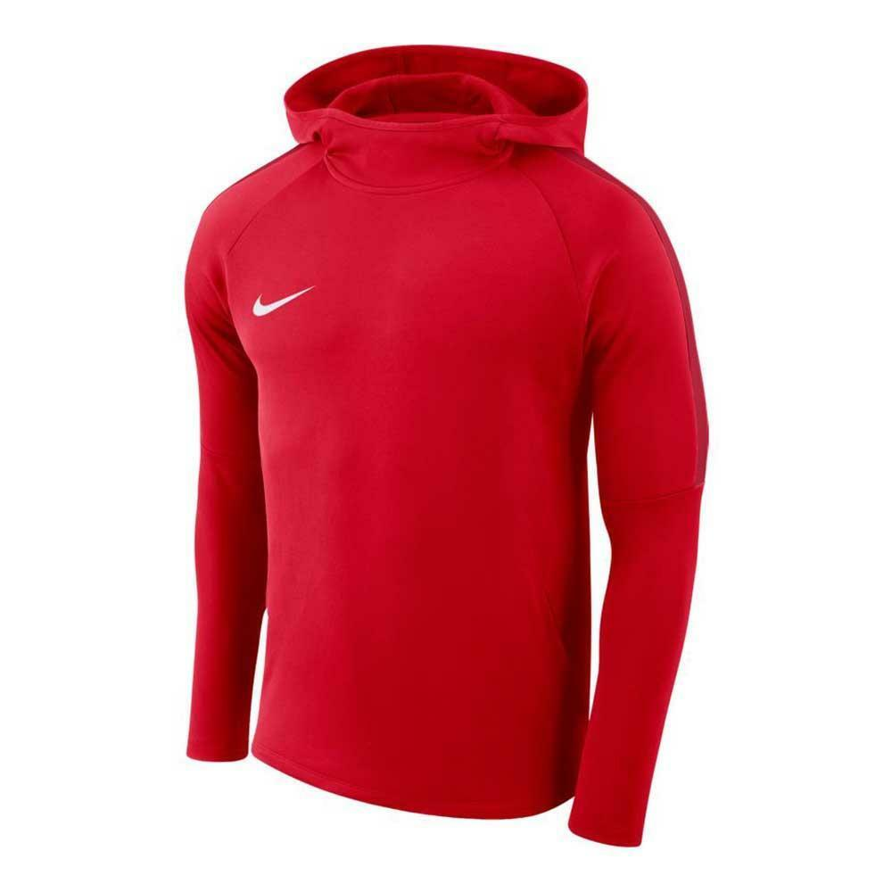 nike nike felpa bambino hoodie academy 18 rosso