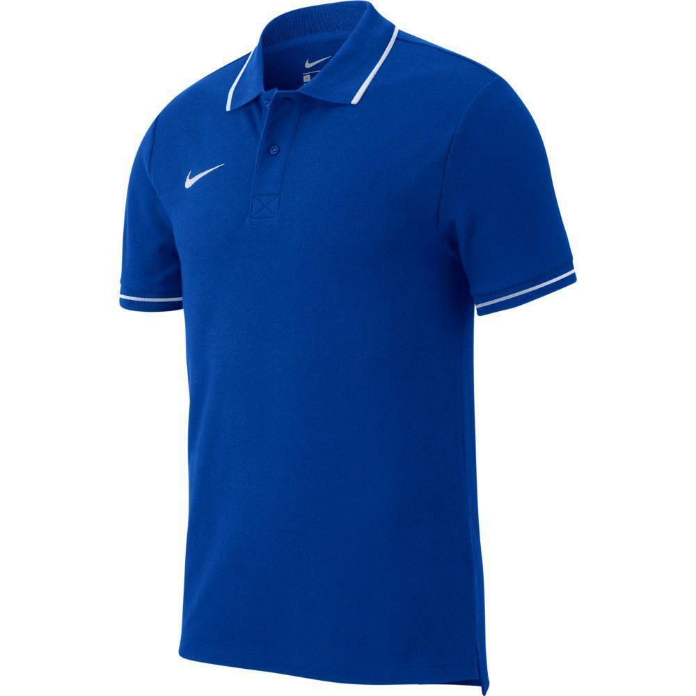 nike nike polo team club 19 azzurro