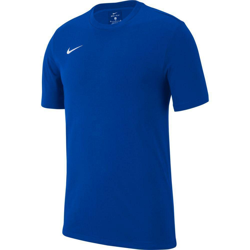 nike nike t-shirt team club 19 azzurro