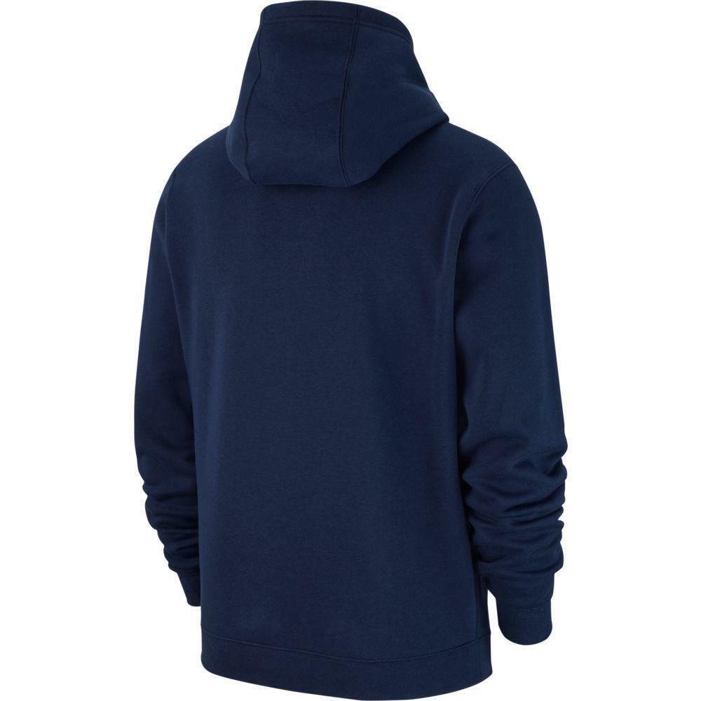 nike nike felpa bambino team club 19 hoodie  blu