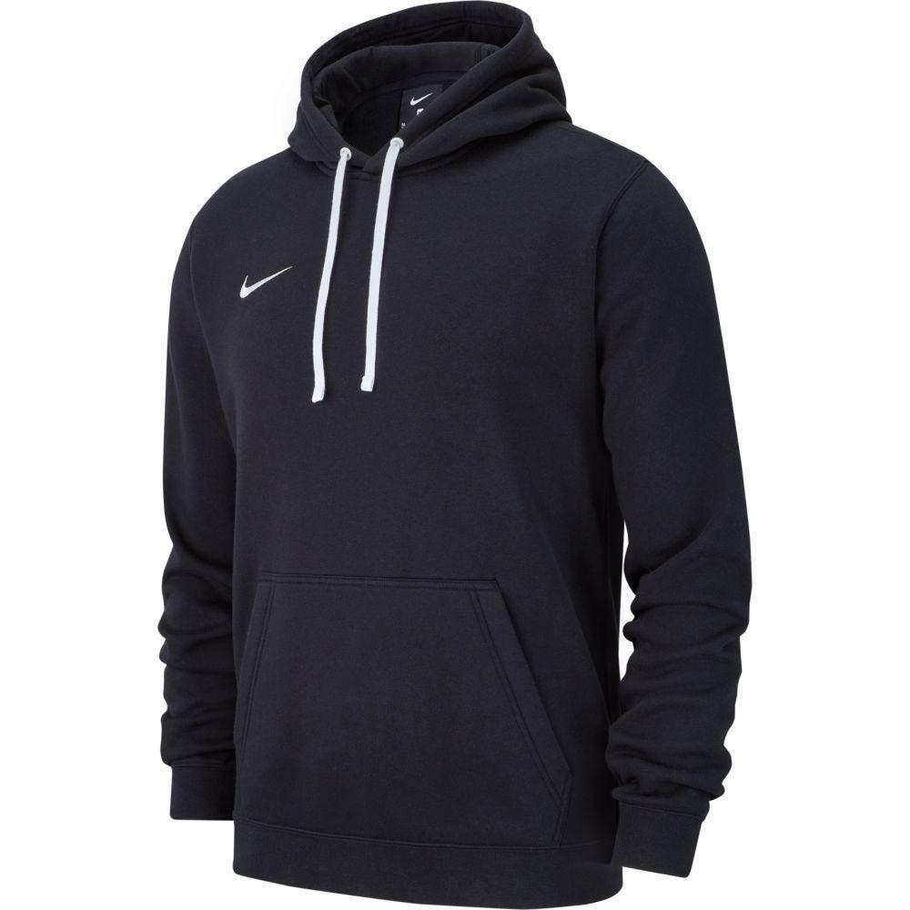 nike nike felpa team club 19 hoodie nero