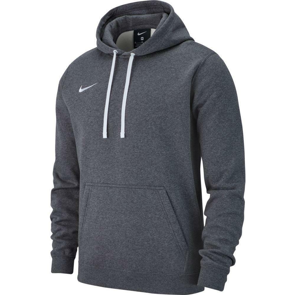 nike nike felpa team club 19 hoodie grigio