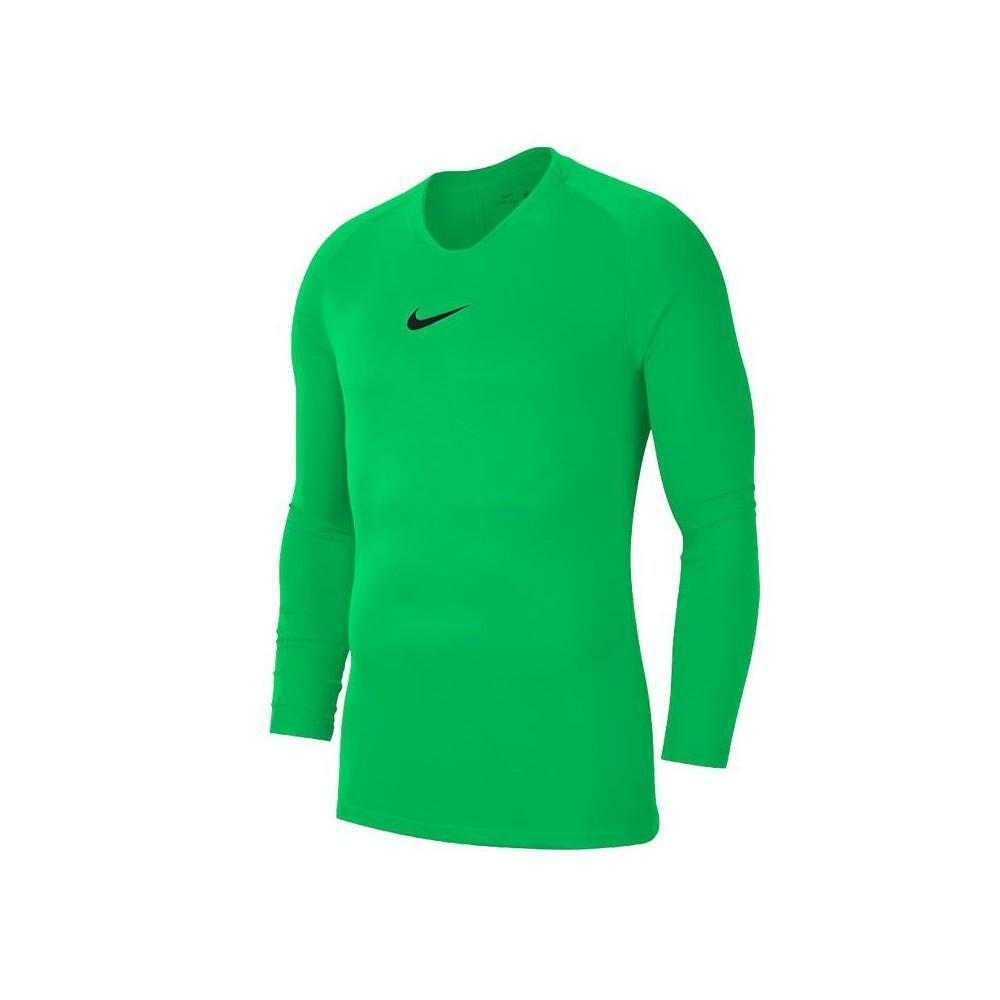 nike nike maglia termica park first layer verde fluo
