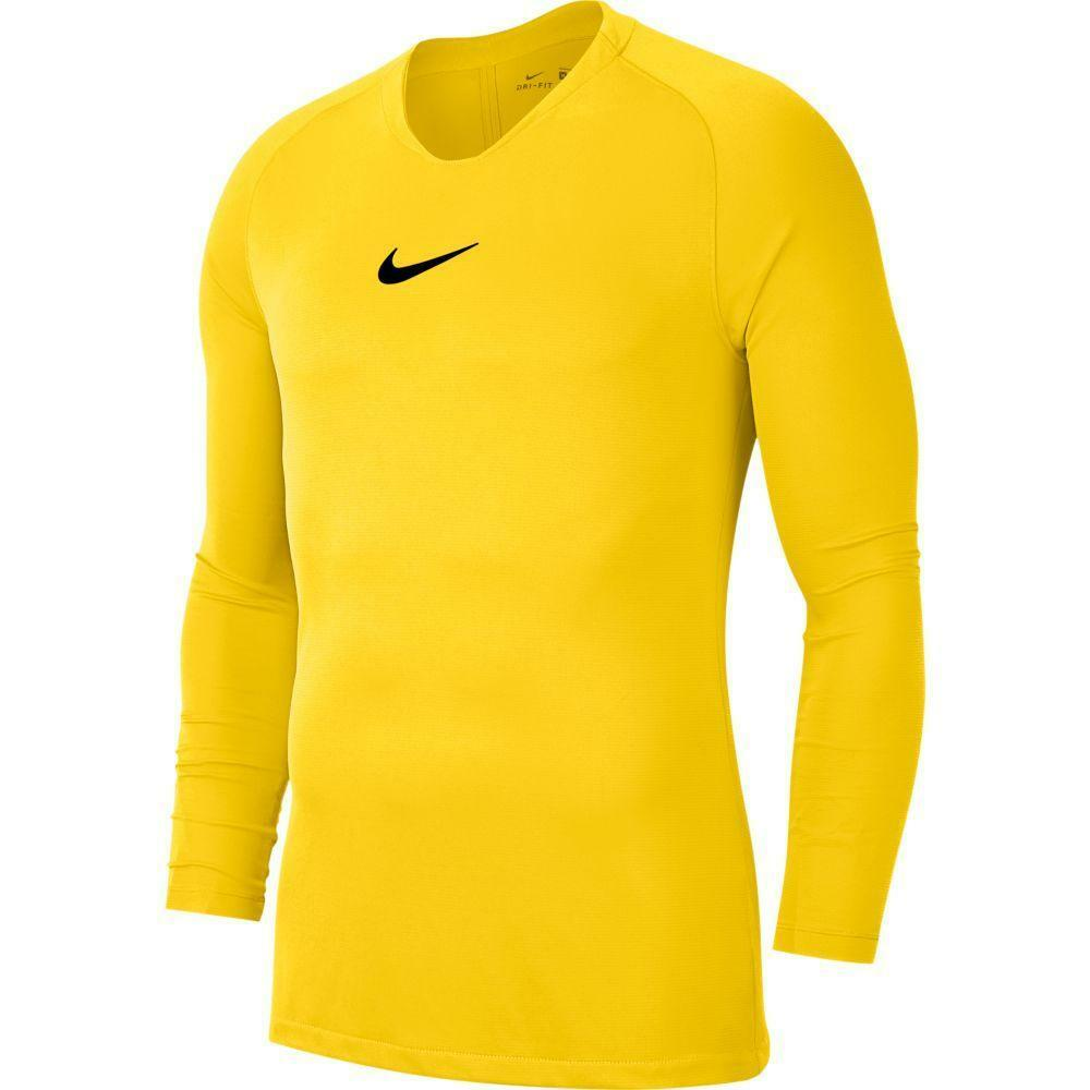 nike nike maglia termica park first layer  giallo