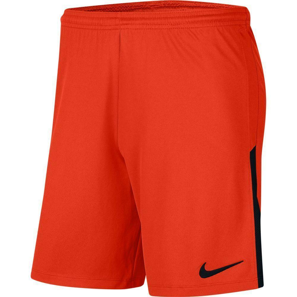 nike nike pantaloncino league knit ii arancio