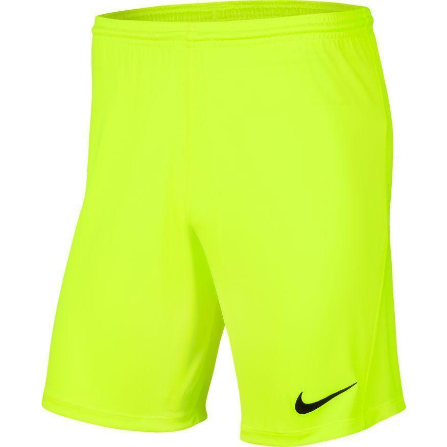 nike nike pantaloncino calcio bambino park iii giallo fluo