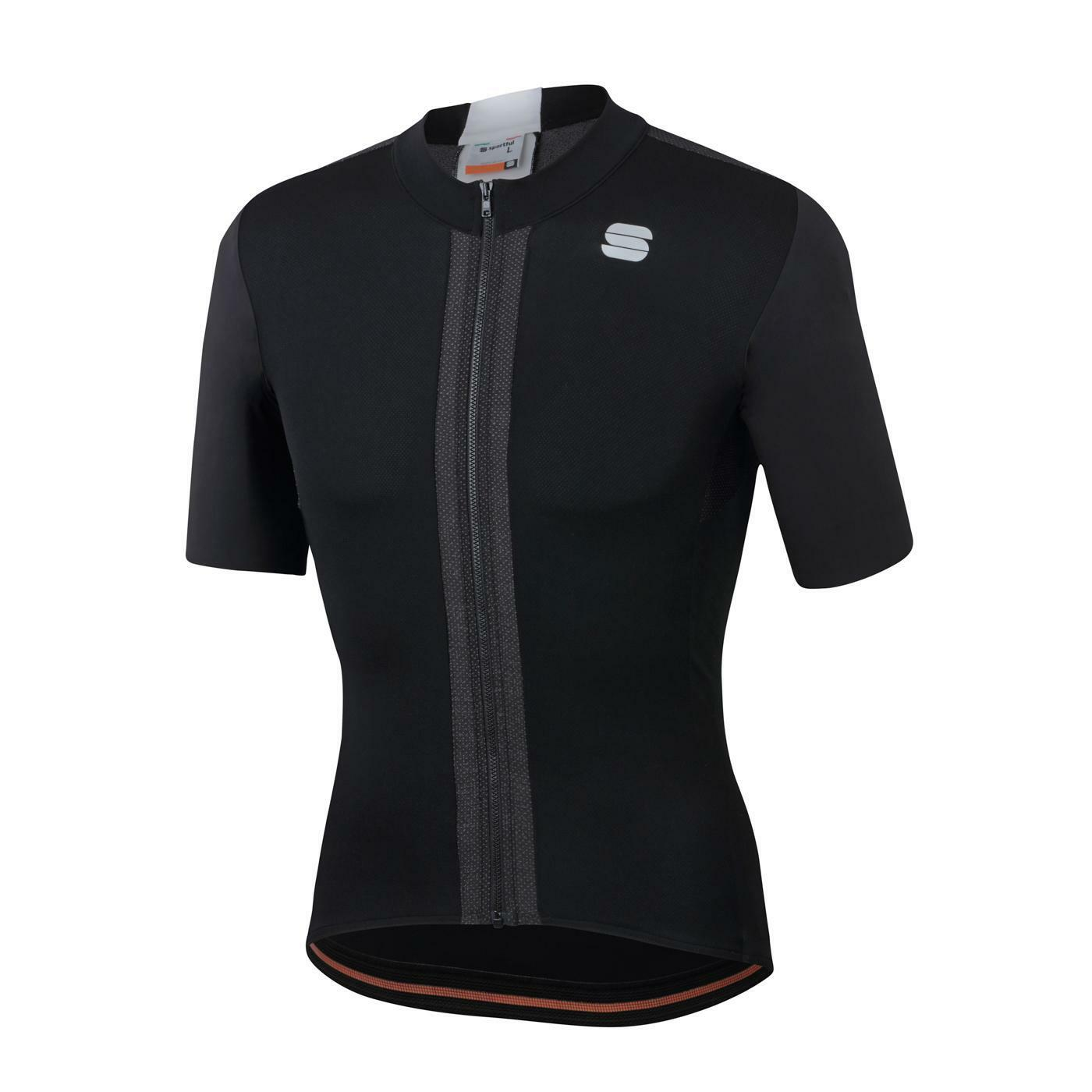sportful sportful maglia strike short sleeve jersey nero