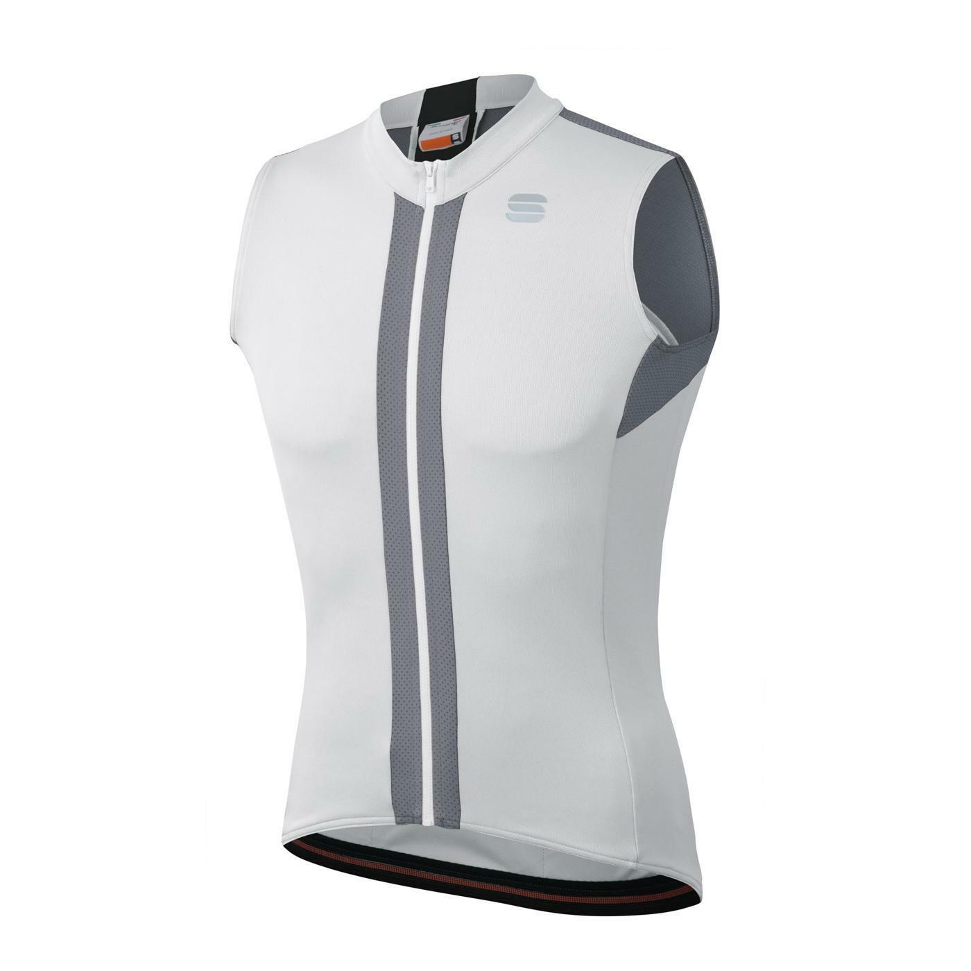 sportful sportful maglia strike sleeveless jersey bianco
