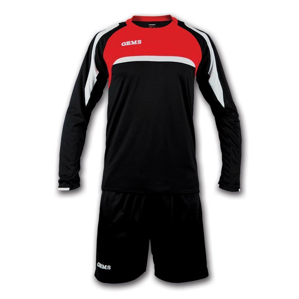 gems gems kit calcio vermont nero/rosso