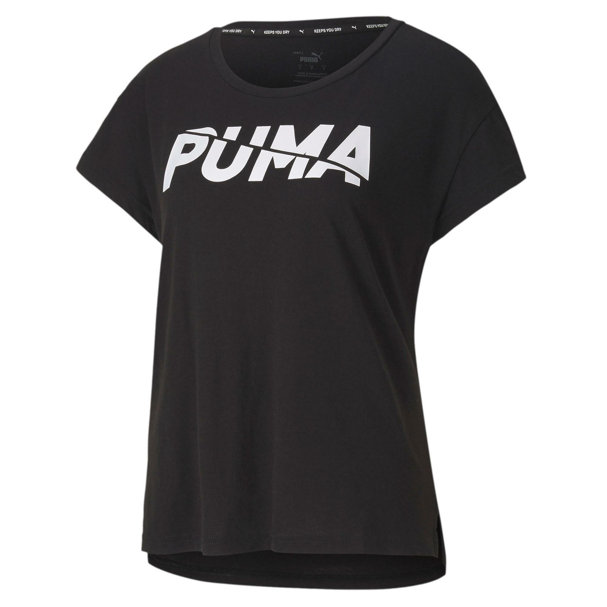 puma puma t-shirt donna modern sports nero