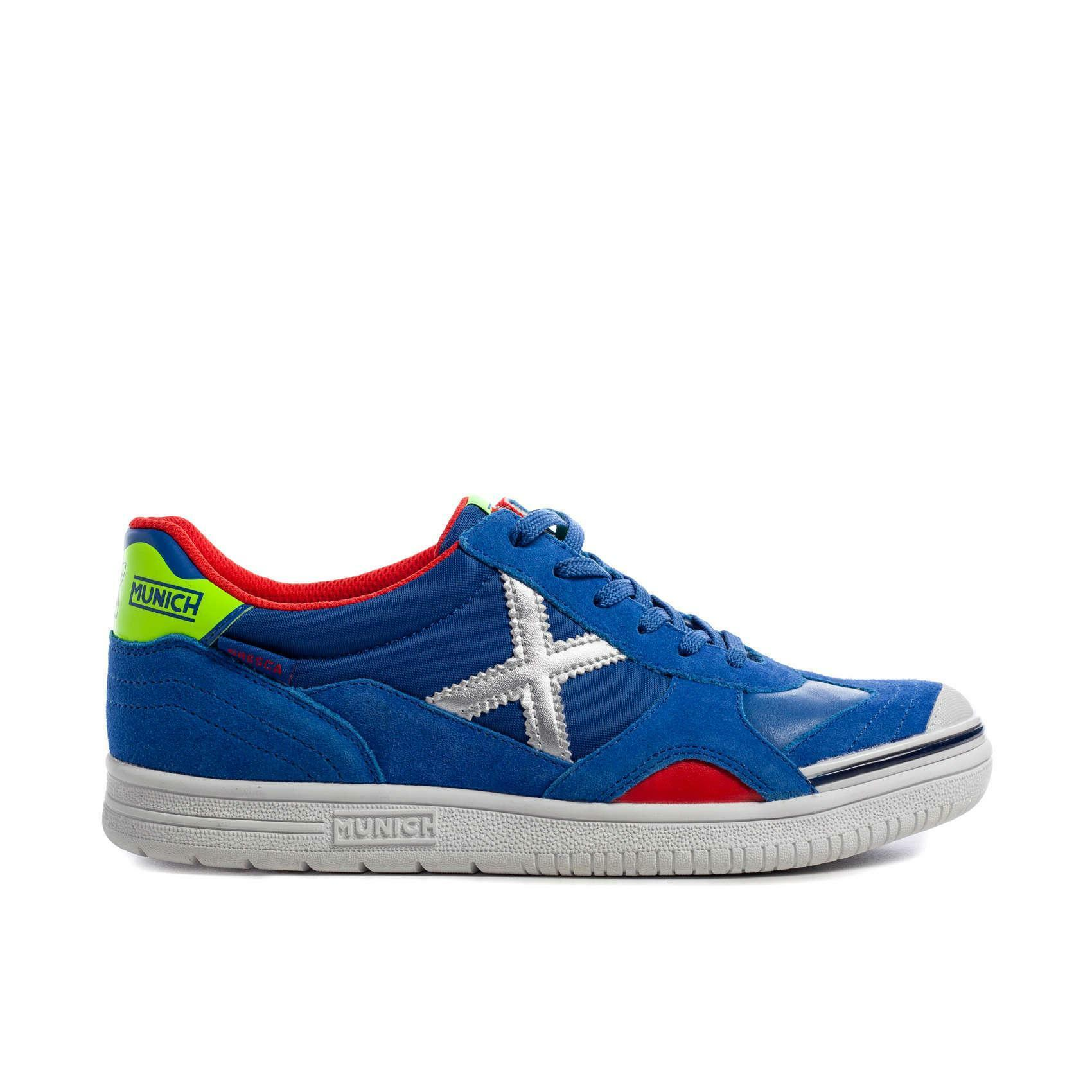munich munich scarpa indoor gresca azzurro/rosso