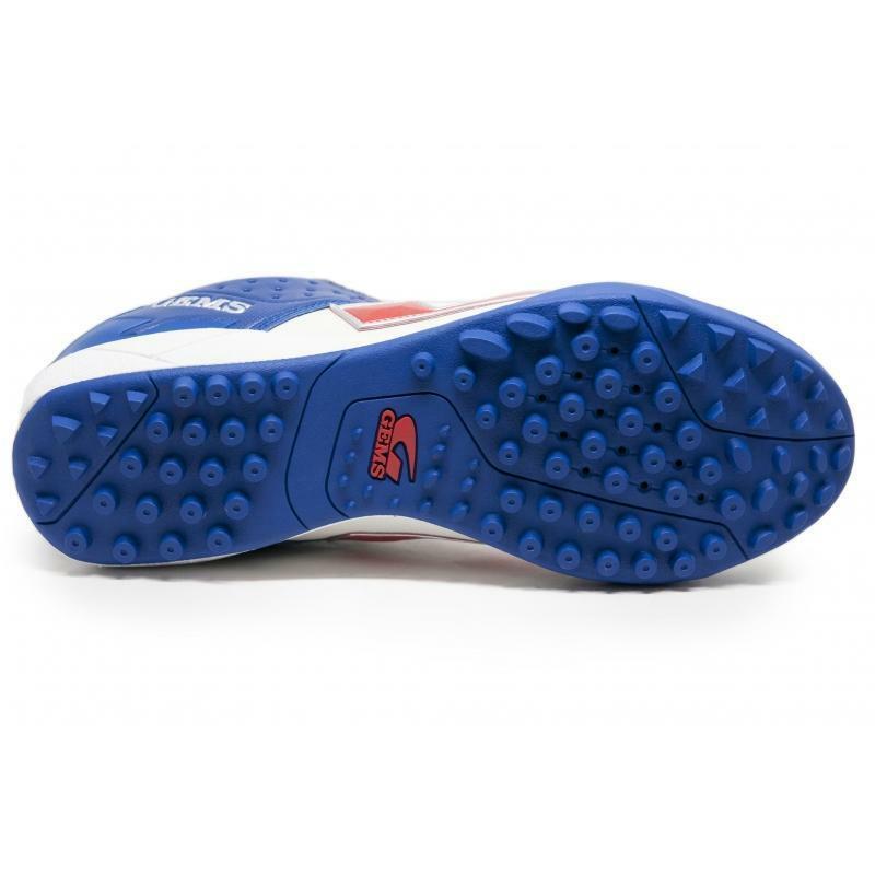 gems gems scarpa calcetto viper fx tf bianco/blu