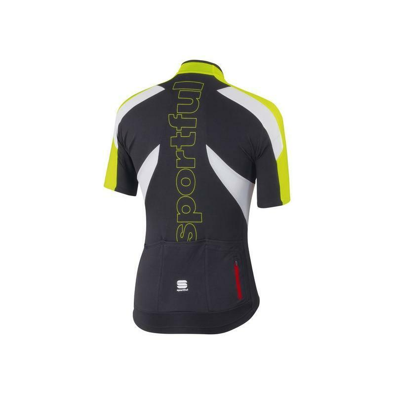 sportful sportful maglia crank jersey nero/verde