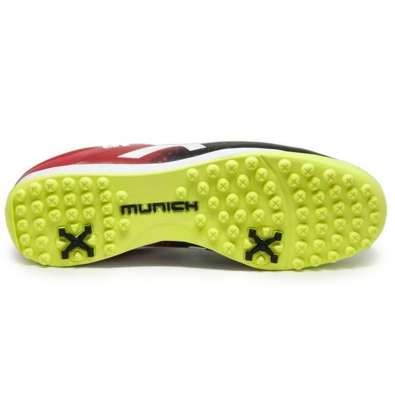 munich munich scarpa calcetto one turf rosso