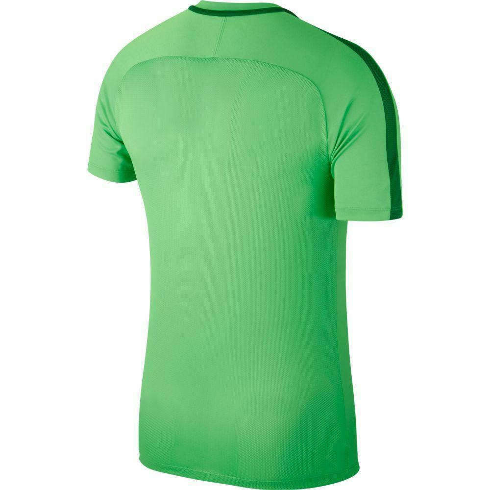 nike nike maglia academy 18  verde fluo