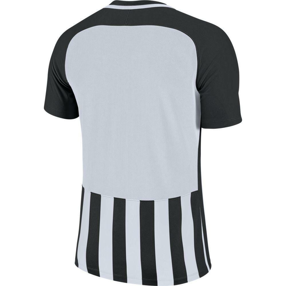 nike nike maglia bambino striped mc iii nero/bianco