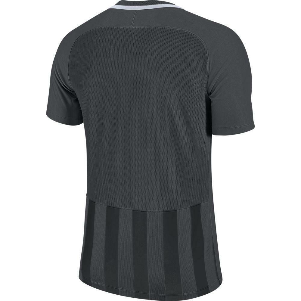 nike nike maglia bambino striped mc iii grigio/nero