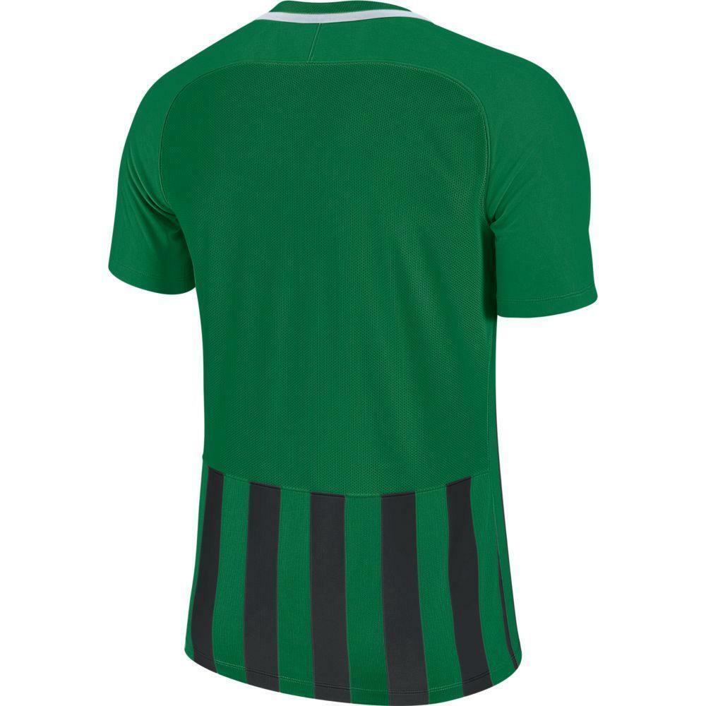 nike nike maglia bambino striped mc iii verde/nero