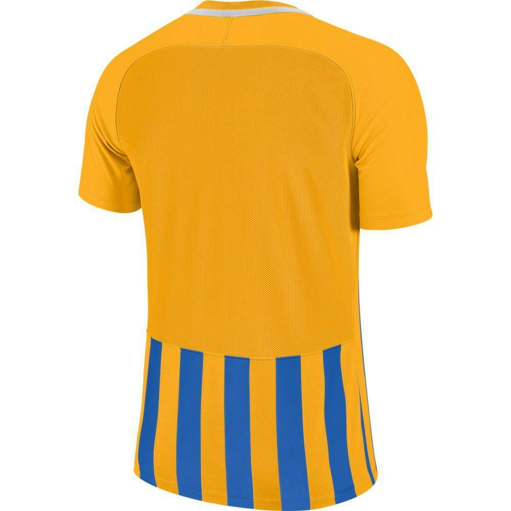 nike nike maglia bambino striped mc iii giallo/azzurro
