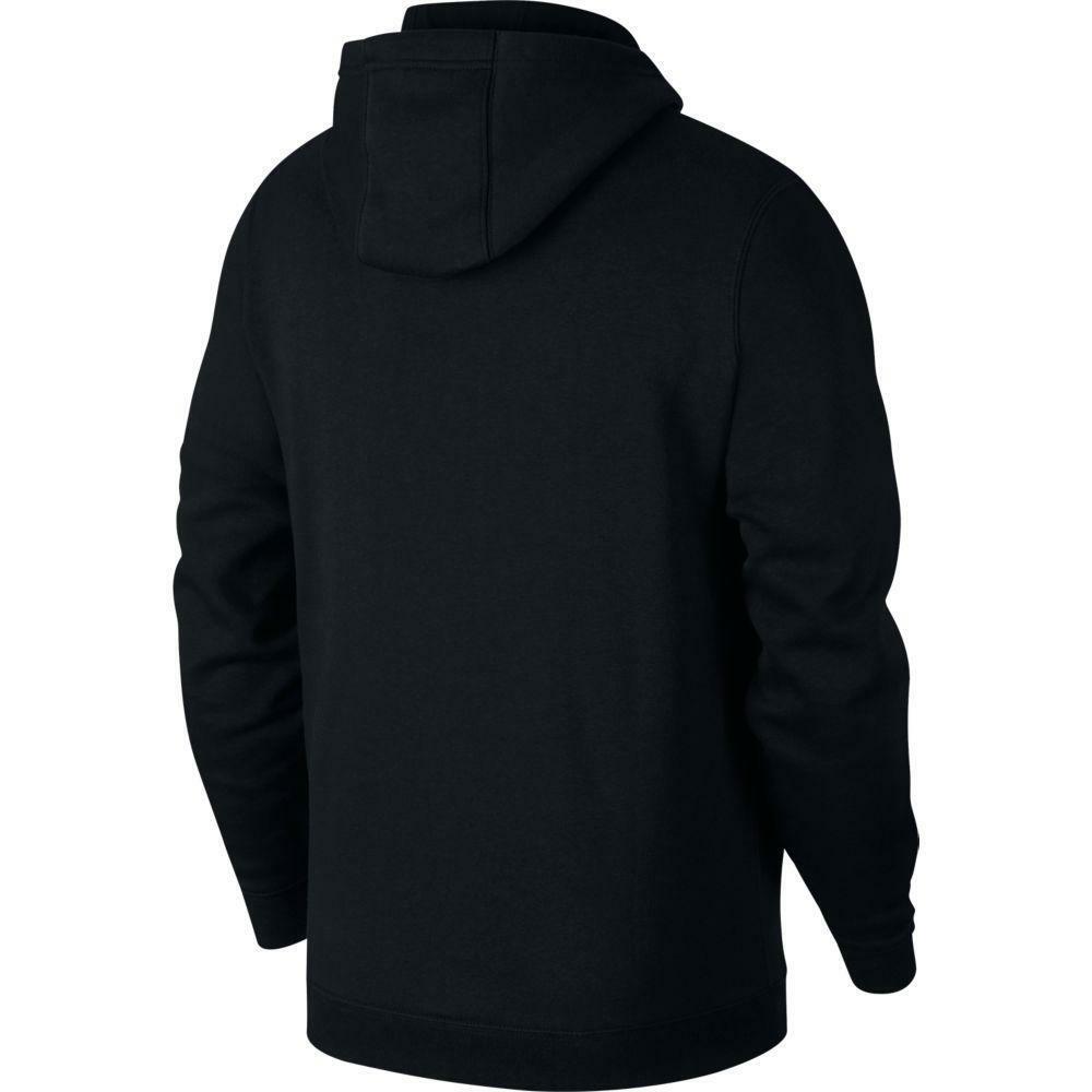 nike nike felpa team club 19 zip hoodie nero