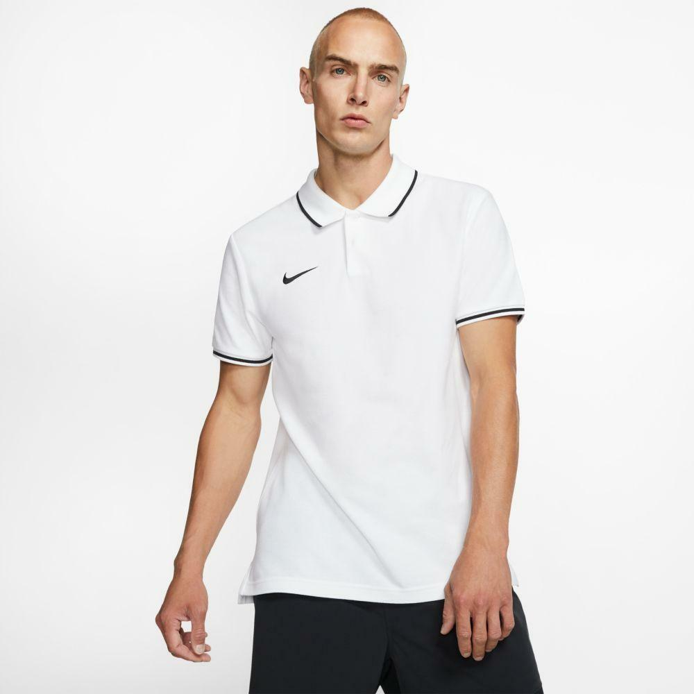 nike nike polo team club 19 bianco