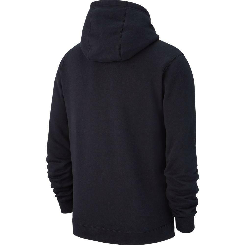 nike nike felpa bambino team club 19 hoodie nero