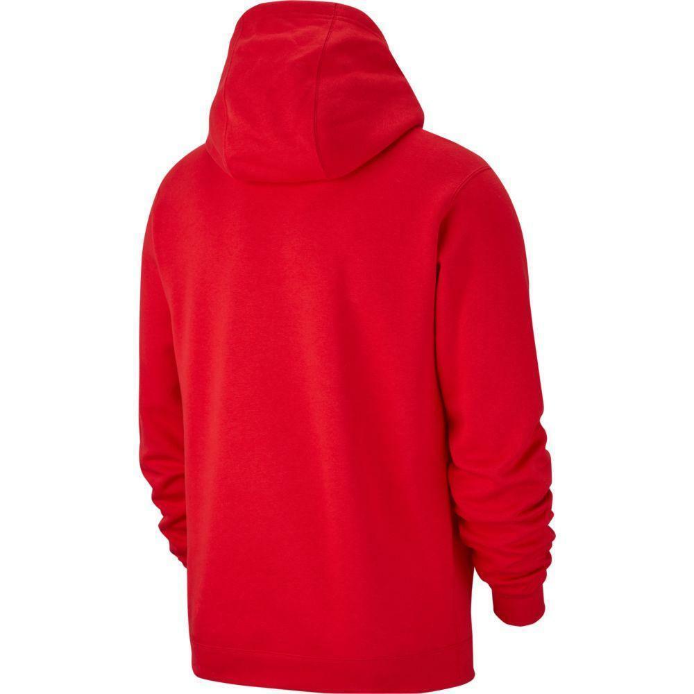 nike nike felpa bambino team club 19 hoodie rosso