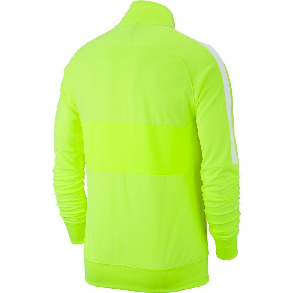 nike nike giacca tuta academy 19 giallo fluo