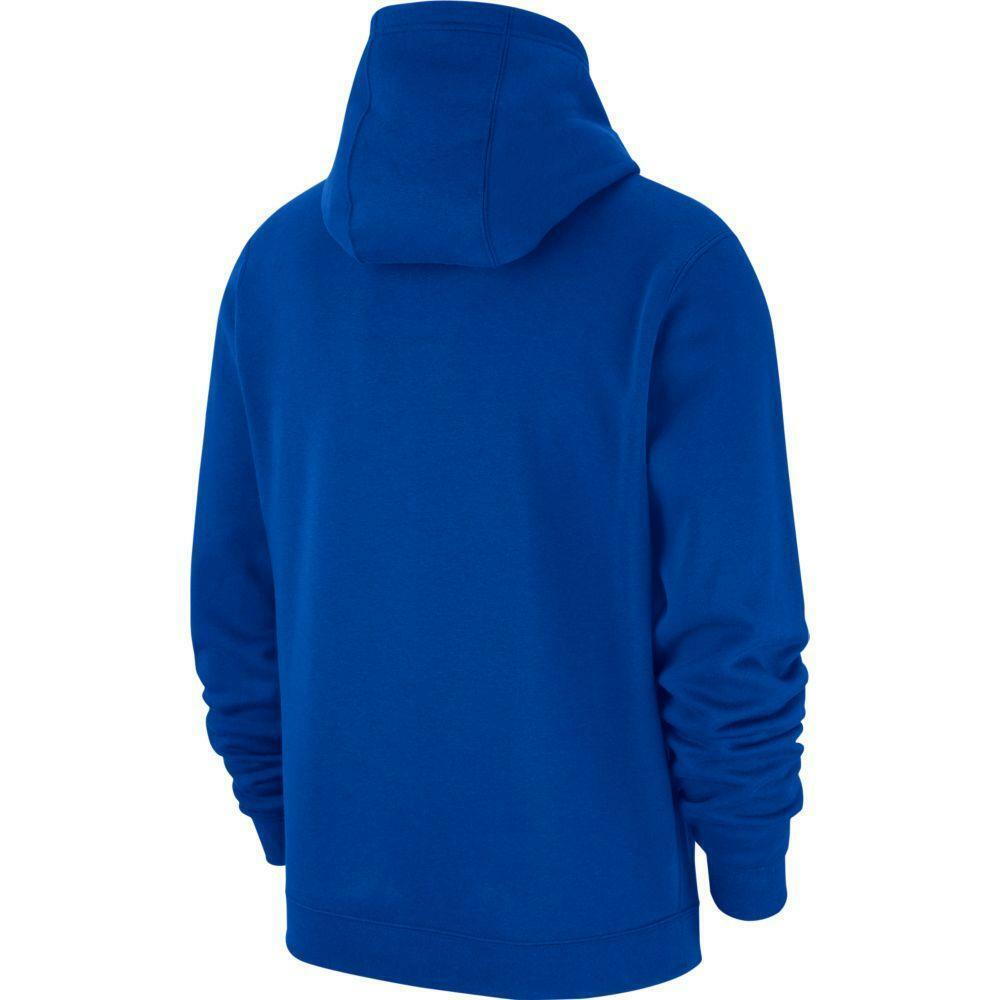 nike nike felpa team club 19 hoodie  azzurro