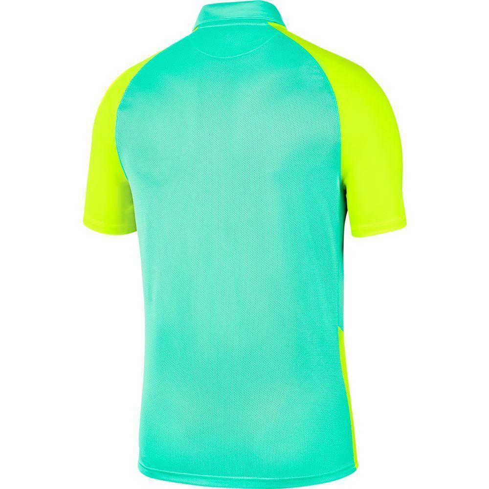 nike nike maglia trophy iv verde acqua/giallo fluo